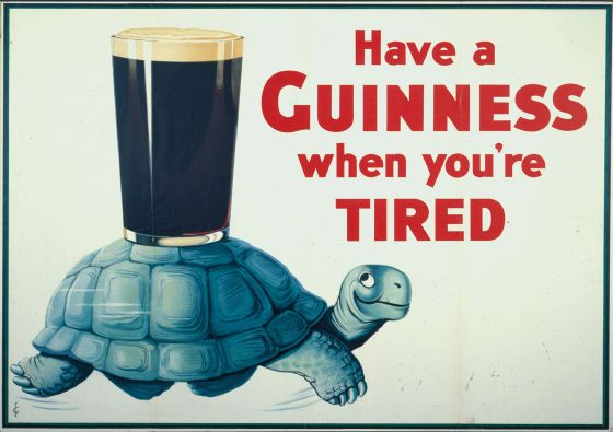 Have a Guinness When You're Tired Tortoise. Vintage Advertising Slogan Print/Poster. Sizes: A4/A3/A2/A1 (00133)